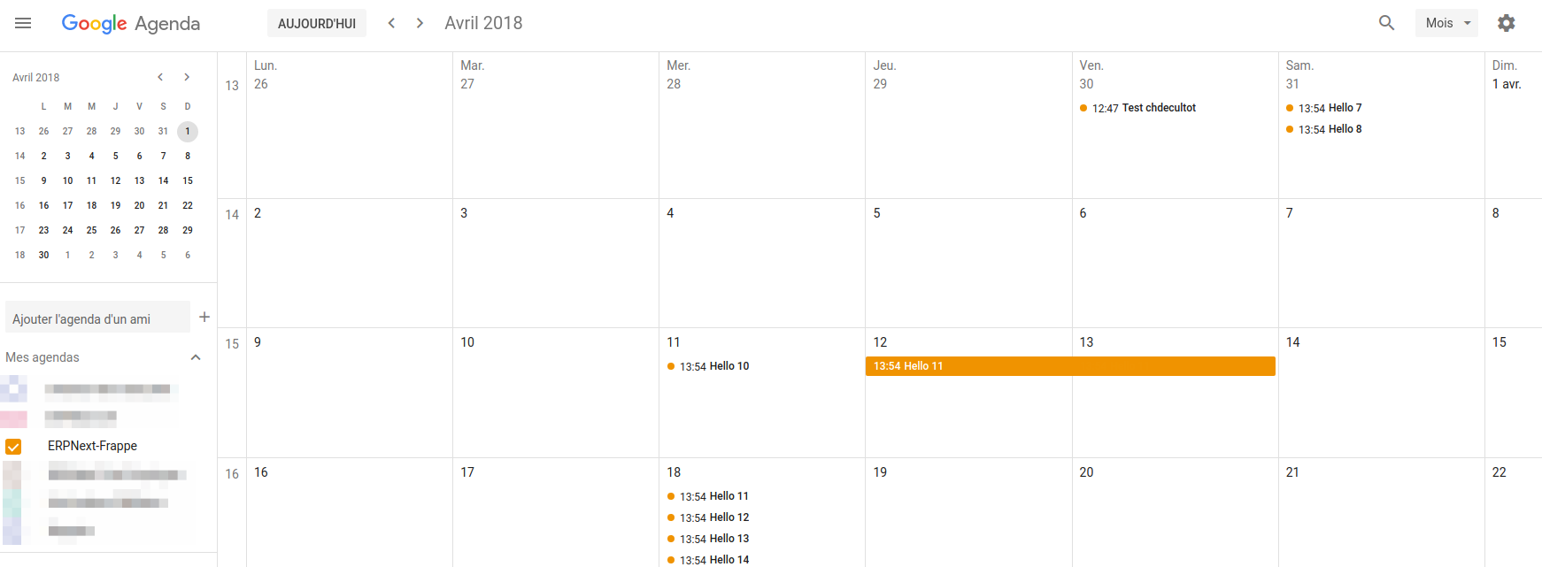 Google Calendar ERPNext Integration